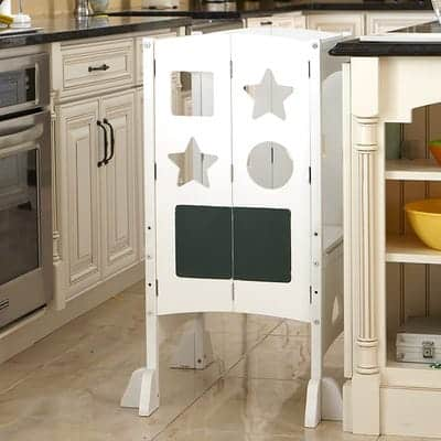 guidecraft classic kitchen helper stool 4