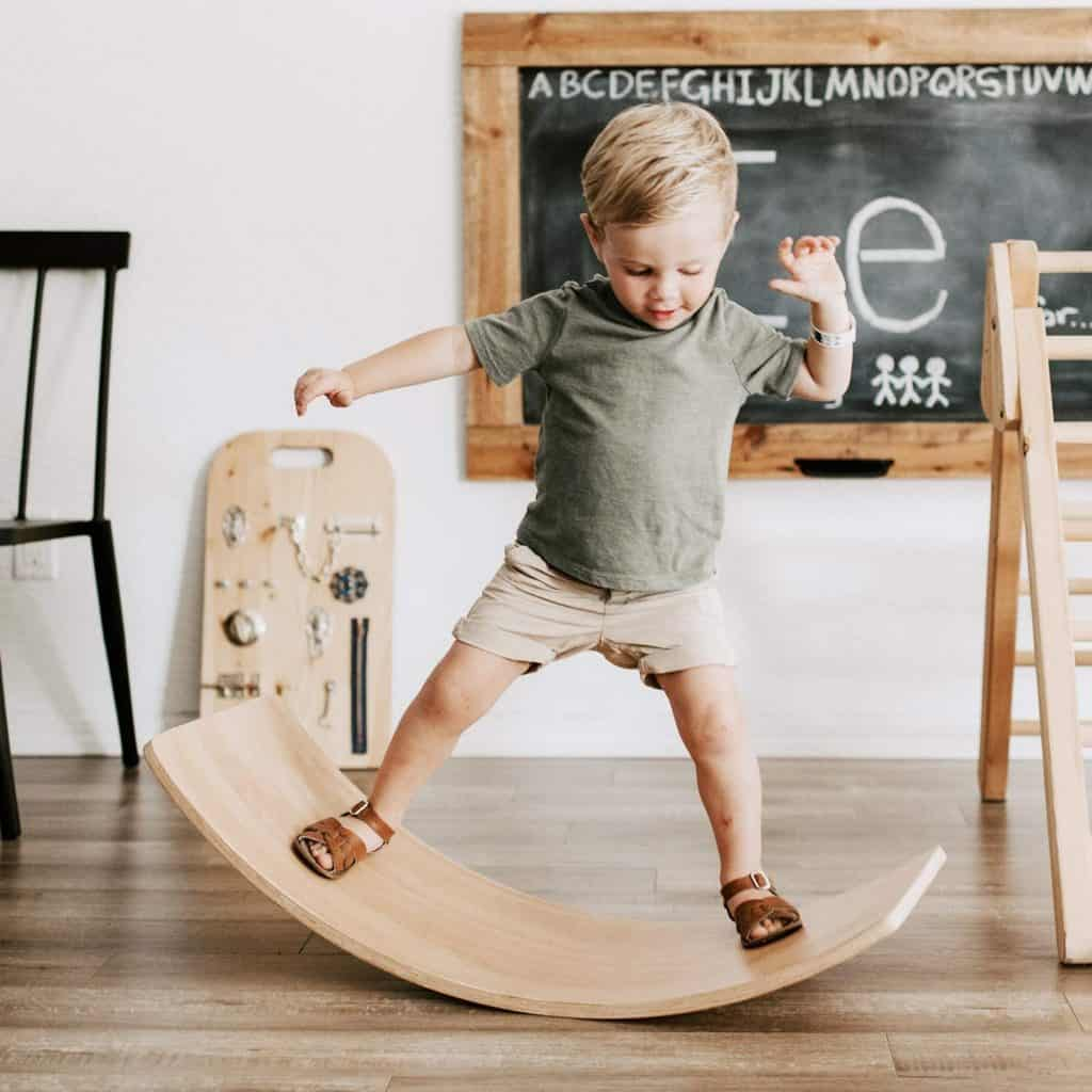 wooden balance board toddler