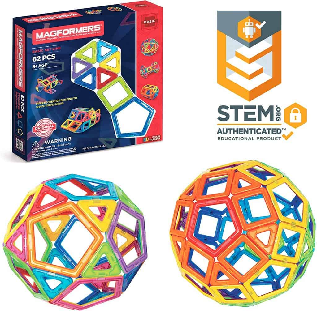 stem magnetic blocks The best building toys for toddlers